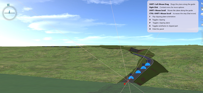 Clip plane with inforpanel in 3D window
