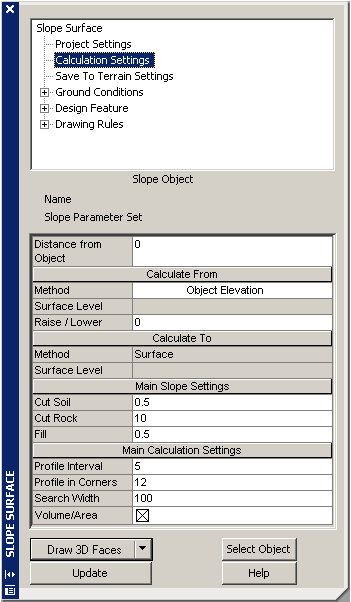 Calculation settings [Novapoint Resource Center]